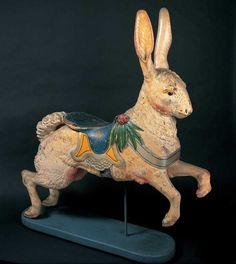 Dentzel Company carousel rabbit at the American Folk Art Museum.  www.folkartmuseum.org