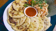 'Pupusas' recipe at SBS Food online, created by Lilian Funes de Murga. El Salvador's savoury pancakes, I love the ones with cheese. I jumped for joy when I came across Masa Lista Mexican style flour at a local markets to make these with.