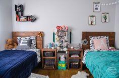 Wspólna dzieci sypialnia dla chłopca i girl- kocham to!