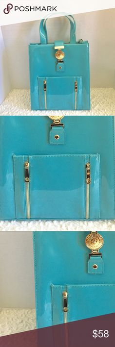 Beautiful Turquoise purse Turquoise blue with gold detailing!! Bags Totes