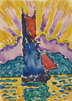 1905, Sunset (The  Fan), Paul Signac