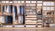 Wardrobe Design Ideas Ikea Designer Home Ikea Closet Design, Wardrobe Design, Closet Designs, Armoire Ikea, Ikea Drawers, Walking Closet, Ikea Pax, Bedroom Cupboards, Bedrooms