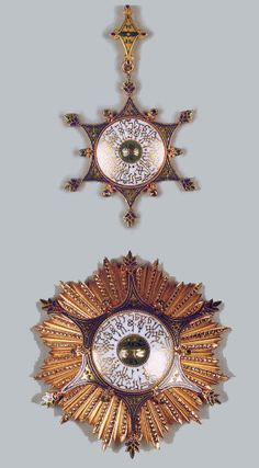 The Order of Muhammad 'Ali : founded by Sultan Husain Kamil on 14th April 1915. Awarded in three classes, Supreme, Grand Cordon and Commander. The supreme class being restricted to Heads of State and members of the Egyptian and foreign Royal houses. The Grand Cordon was restricted to fifteen recipients at any one time. They enjoyed the title of Pasha with the style of His Excellency (Hazrat Sahib al-Ma'ali), and were entitled to military salutes when wearing their insignia.