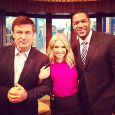 """Alec Baldwin stopped by #KellyandMichael to talk about his new film """"Rise of the Guardians"""""""