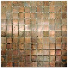 Metal Tile Antique Copper 1 x 1