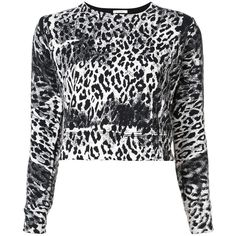 Mother 'Kiss Me You Animal' jumper (10.535 RUB) ❤ liked on Polyvore featuring tops, sweaters, black, white cotton tops, animal tops, white tops, white sweaters and white jumper