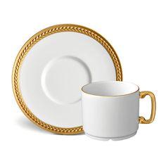 L'Objet Soie Tressée Gold Dinnerware | Artedona.com