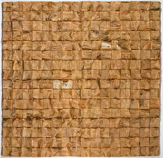 Rosalie Gascoigne  Paper Square, 1982  256 wads of newspaper nailed to plywood  246 × 240cm  8 panels