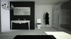 Conceito Lux Espelho, lavatório, base de duche e resguardo de banho.  Concept Lux Mirror, washbasin, shower tray and shower enclosure.  #biselarte #lux