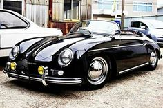 Porsche : 356 Intermeccanica 356 speedster by AT Social Media Marketin. Classic Sports Cars, Old Classic Cars, Classic Style, Vintage Porsche, Vintage Cars, Antique Cars, Carros Porsche, Porsche 356 Speedster, Porsche 356a