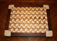 3D Cutting Board with border and feet