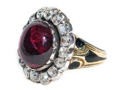 Glorious Garnet and Diamond Ring