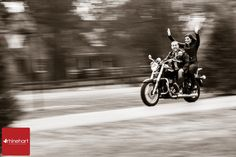 Save the Date Engagement motorcycle  Lisa Rhinehart, Central PA Photographer: Justine & Brinton