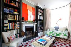 """I think rooms feel more inviting/live in if you DON'T stick to a restrictive color palette. Plus, then you don't have to hide/replace all the stuff you already own that doesn't """"fit in."""""""
