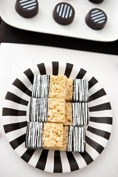Black and White Rice Krispie treats