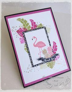 Stampin Up - Fabulous Flamingo Handmade Greetings, Greeting Cards Handmade, Stampin Up Catalog, Stamping Up Cards, Bird Cards, Animal Cards, Handmade Birthday Cards, Cute Cards, Homemade Cards