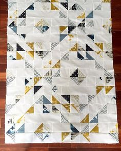 Waiting on backing for this crib quilt! Pattern is #sqindiansummer by @suzyquilts #observerfabrics by @aprilarhodes @artgalleryfabrics