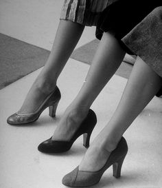 1950's shoes...much more comfortable than the pointed (to an extreme) toe and a spindly heel.