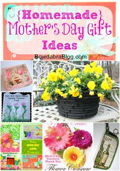 Feature Friday {Homemade} Mother's Day Gift Ideas