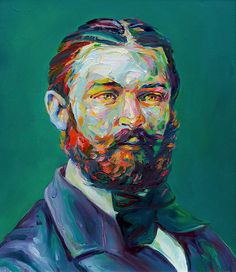 Aaron Smith's Latest Series of Colorful and Dapper Bearded Men | Hi-Fructose Magazine