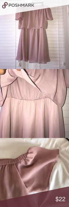 Asos blush pink off the shoulder dress Off the shoulder, flowy style with gorgeous sleeves! ASOS Dresses