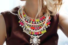 Lolita gorgeous acrylic and swarovski neon and pearls por Bayila