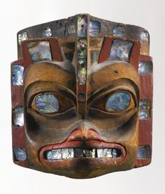 Lot 111 NORTHWEST COAST POLYCHROME WOOD HEADDRESS | Collection of Adelaide DeMenil and Edmund Carpenter Sotheby's 22 May 2013