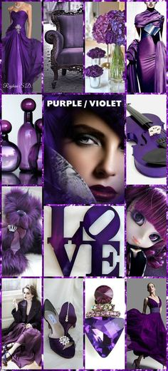 '' Purple / Violet '' Pantone color of the year 2018 Purple Love, Purple Lilac, All Things Purple, Purple Rain, Shades Of Purple, Magenta, Color Me Beautiful, Beautiful Collage, Blog Vogue