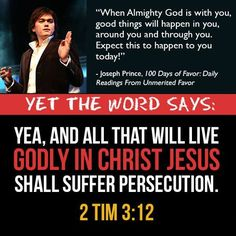 Wow Joseph Prince! Then I guess #God was not with Stephen, apostle Paul and the disciples who were persecuted to death (except John) for their faith in Jesus!
