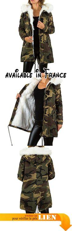 B075XS23Q9 : iTaL-dESiGn - Blouson - Femme - marron - X-Large.