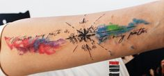 enhancertattoo  http://enhancertattoo.deviantart.com/art/Water-color-compass-tattoo-457572363