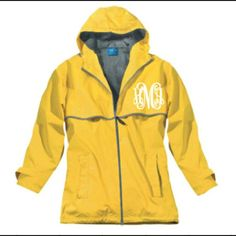 Monogram rain jacket Sizes: XXS-XXL  Colors: shown in 3rd picture Monogram font: shown in 4th picture  In order for me to monogram please leave the following:  - Size - Jacket color - Monogram font - list initials in the order you want them to appear (Traditional monogram is FIRST, LAST, MIDDLE. Example: Emily Marie Williams would be EWM)  Please  don't  purchase this listing. I will make a new listing with your personalized order.   Any questions  or concerns feel free to email me or…
