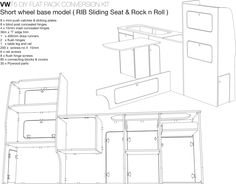 Side Furniture Unit | VW T4 T5 constructed in Vohringer ply
