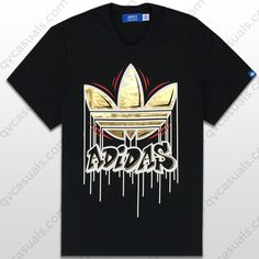 adidas Originals Mens Three Stripes V2 Trefoil T-Shirt at QV casuals. Save on a huge range of big brand t shirts for men and women.