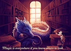 Magic is everywhere... dragon in the library
