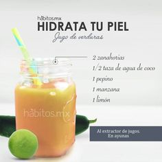 JUGO DE VERDURAS MEJORA LA PIEL