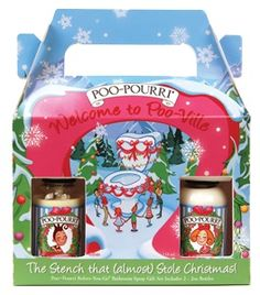 CLOSEOUT - 2 oz. Poo-Ville Holiday Gift Set Poo-Pourri Bathroom Spray $20.95