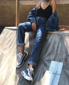 ป ก พ น โ ด ย this aj ใ น asy*° jeans уличная мода стиль и мода แ ล ะ город Grunge Look, Soft Grunge, 90s Fashion, Fasion, Fashion Beauty, Fashion Outfits, Womens Fashion, Fashion Trends, Fashion Killa
