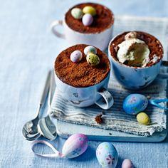 Warm chocolate truffle 'cup' cakes