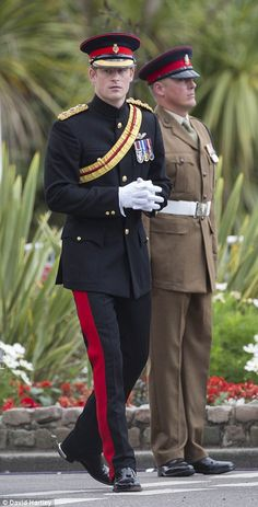 8/4/14.   Prince Harry attended the Step Short commemorative event in Folkestone to mark the centenary of the First World War