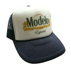 Vintage Modelo Especial Beer Hat Trucker hat Snap back Navy Blue party cap New #Truckerhat #TruckerHat Mens Clothing Trends, Best Caps, Vintage Trucker Hats, Blue Party, Cool Hats, Snap Backs, Dad Hats, Snapback Hats, Hats For Men