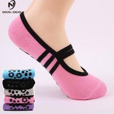 Women Anti Slip Bandage Cotton Sports Yoga Socks Ladies  #Connect2day