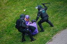 Es kam zu Auseinandersetzungen mit der Polizei.