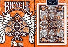 Bicycle Pluma Playing Cards in Orange