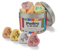 Los deliciosos caramelos de fruta en forma de corazón son un detalle siempre…