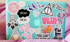 awesome cute laptop stickers Tumblr Quality, Preppy Stickers, Macbook Stickers, Phone Stickers, Mac Laptop, Laptop Case, Tumblr Stickers, All I Ever Wanted, Best Laptops