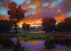 Evening Solitude by Teresa Saia Pastel ~ 18 x 24