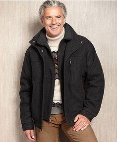 London Fog Coat, Napa Fly-Front Overcoat - Mens Coats & Jackets ...