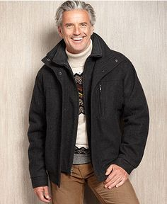 London Fog Coat, Napa Fly-Front Overcoat - Mens Coats & Jackets ...