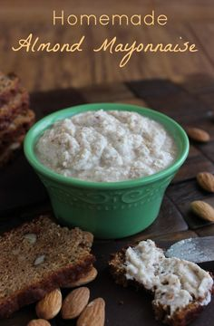 Homemade Almond Mayonnaise is an extremely flavorful spread that will mimic classic mayonnaise on any sandwich.